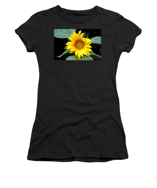 Yellow Sunflower Women's T-Shirt (Athletic Fit)