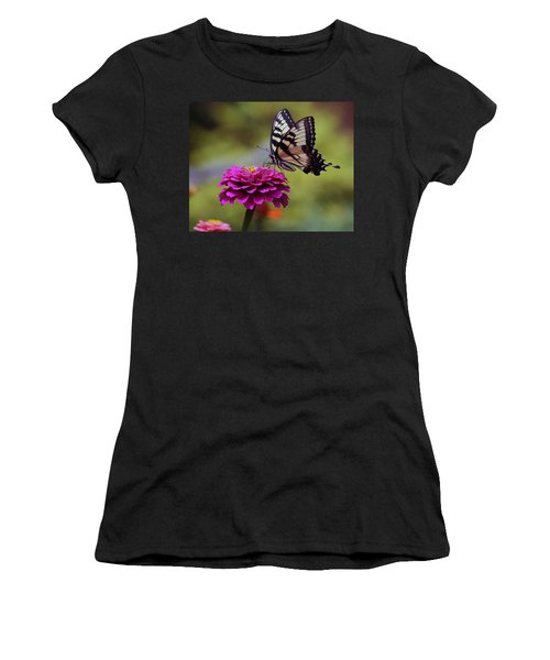 Yellow Tiger Swallowtail Butterfly Women's T-Shirt (Athletic Fit)