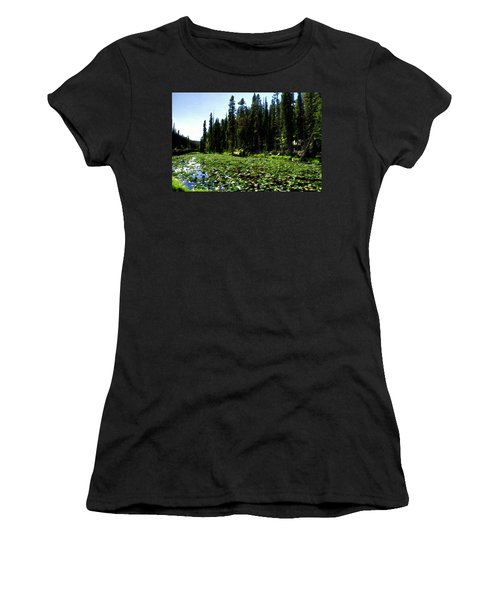 Yellowstone Lily Pads  Women's T-Shirt
