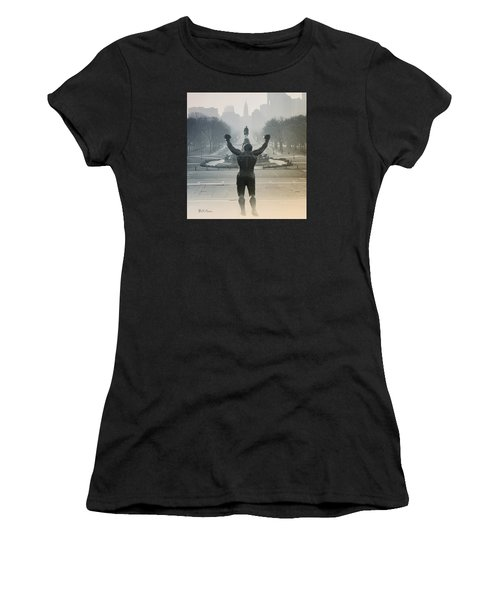 Women's T-Shirt featuring the photograph Yo Adrian by Bill Cannon