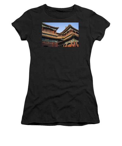 Yonghe Temple Aka Lama Temple In China Women's T-Shirt (Athletic Fit)