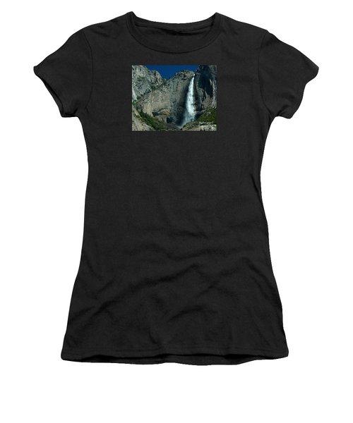 Women's T-Shirt (Junior Cut) featuring the photograph Yosemite Falls by Nick  Boren