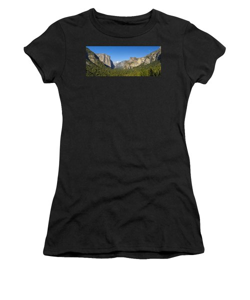 Women's T-Shirt (Athletic Fit) featuring the photograph Yosemite Valley Moonrise by Steven Sparks