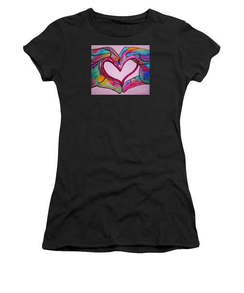 You Hold My Heart In Your Hands Women's T-Shirt (Athletic Fit)
