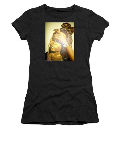 Young Himba Girl - Original Artwork Women's T-Shirt