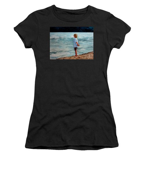 Young Lad By The Shore Women's T-Shirt