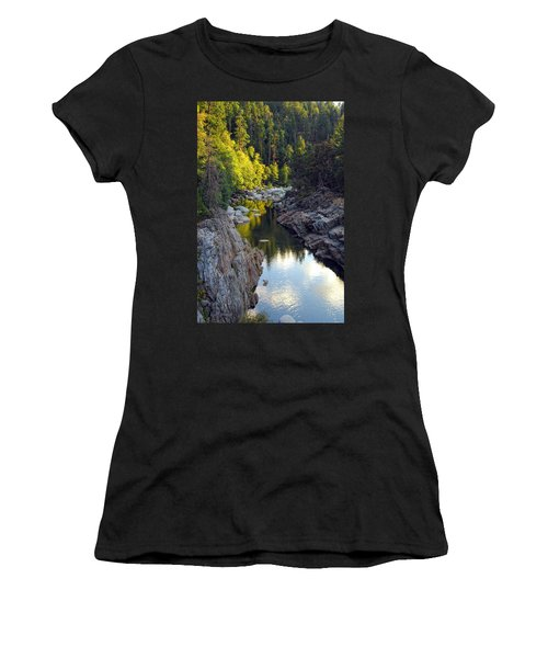 Yuba River Twilight Women's T-Shirt (Athletic Fit)