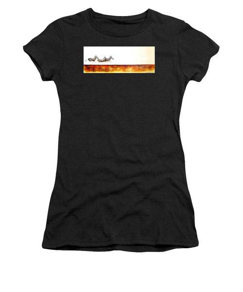 Zebra Crossing - Original Artwork Women's T-Shirt (Athletic Fit)