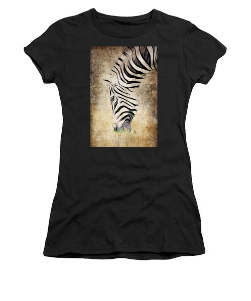 Zebra Fade Women's T-Shirt (Athletic Fit)