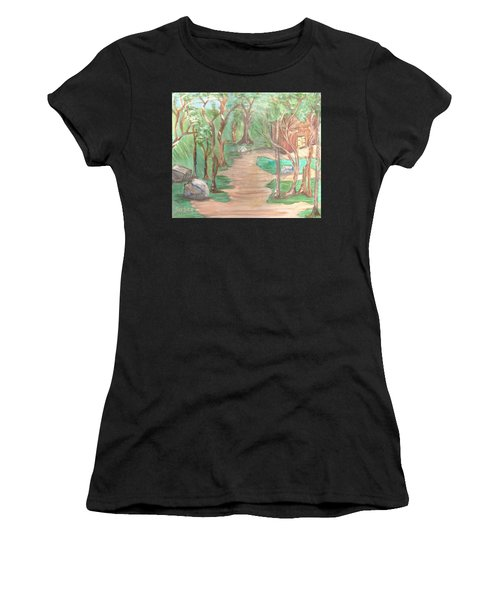 Zen House Women's T-Shirt (Athletic Fit)