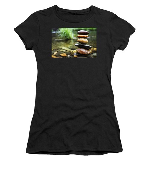 Zen Stones Women's T-Shirt (Athletic Fit)