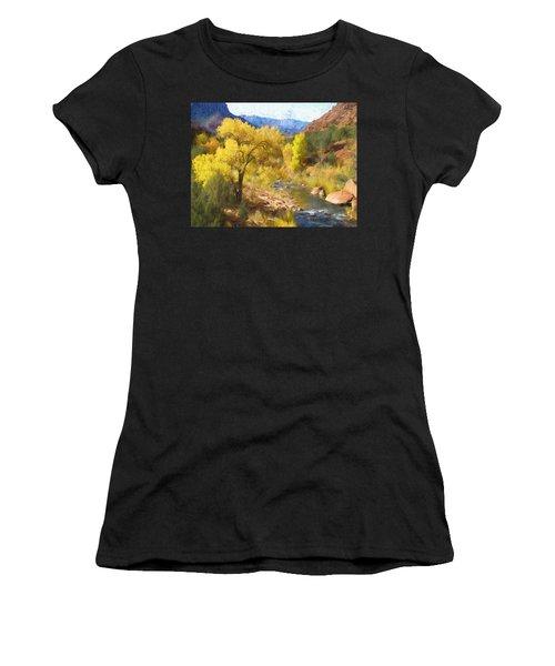 Zion National Park Women's T-Shirt (Athletic Fit)
