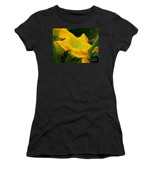 Women's T-Shirt (Junior Cut) featuring the photograph Zucchini Yellow by Lew Davis
