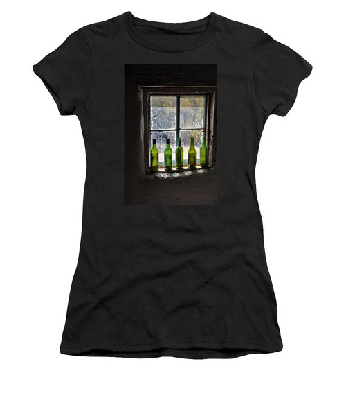 Green Bottles In Window Women's T-Shirt (Athletic Fit)