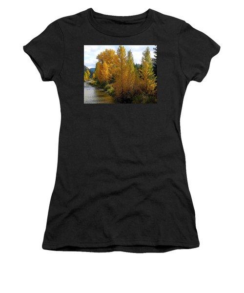 Fall Colors Women's T-Shirt (Junior Cut) by Steve McKinzie