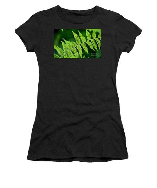 Women's T-Shirt (Junior Cut) featuring the photograph Fern Seed by Sharon Elliott