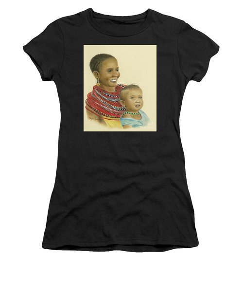 Masai Mom And Babe Women's T-Shirt