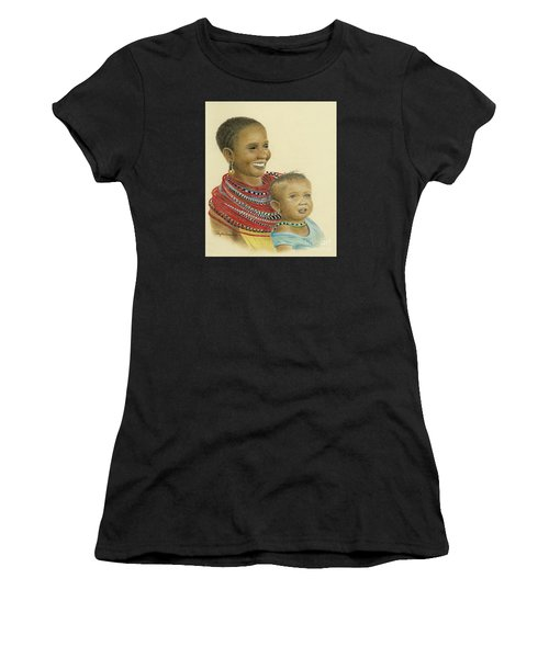 Masai Mom And Babe Women's T-Shirt