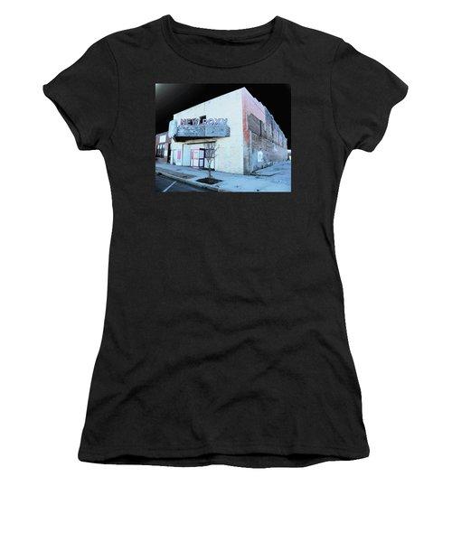 Women's T-Shirt (Junior Cut) featuring the photograph New Roxy Clarksdale Ms by Lizi Beard-Ward