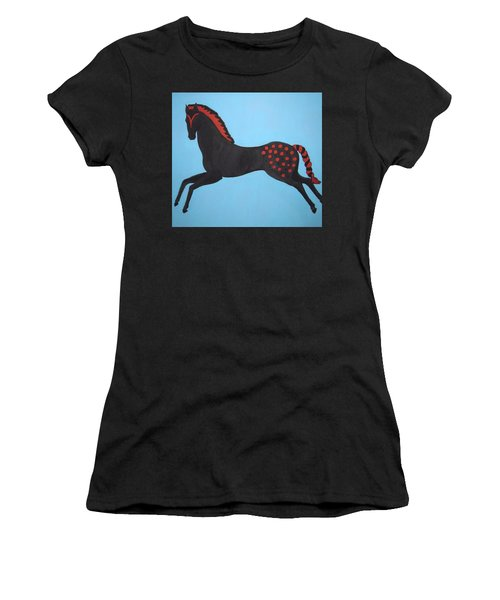 Painted Pony Women's T-Shirt (Junior Cut) by Stephanie Moore