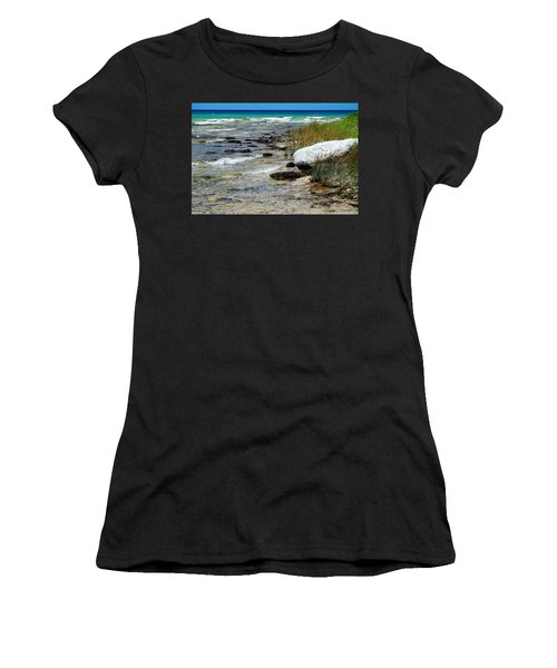 Quiet Waves Along The Shore Women's T-Shirt (Athletic Fit)
