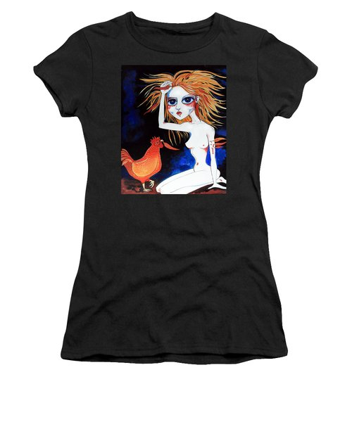 Women's T-Shirt (Junior Cut) featuring the painting Sorry by Leanne Wilkes