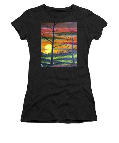 Spring Sunrise Women's T-Shirt (Athletic Fit)