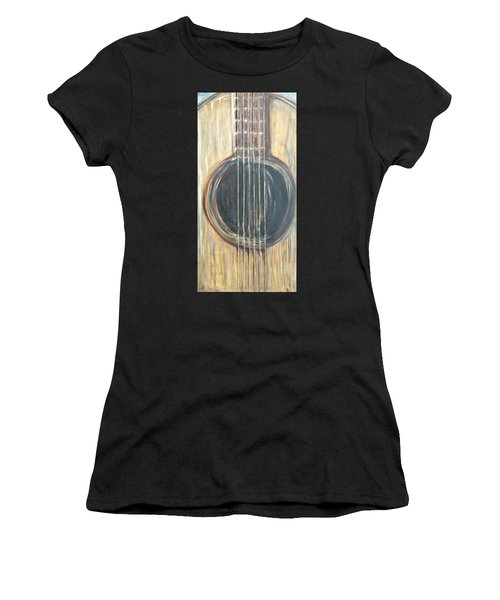 Strings Acoustic Sound Women's T-Shirt (Athletic Fit)