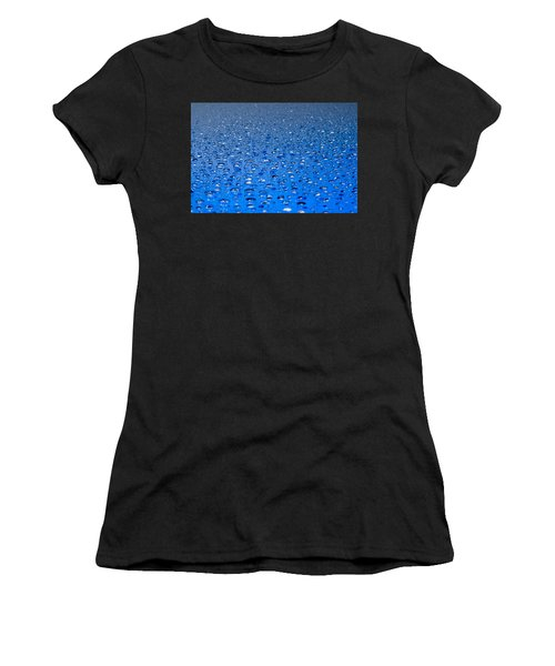 Water Drops On A Shiny Surface Women's T-Shirt (Athletic Fit)