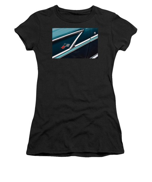 Women's T-Shirt (Junior Cut) featuring the photograph 1958 Chevrolet Bel Air by Gordon Dean II