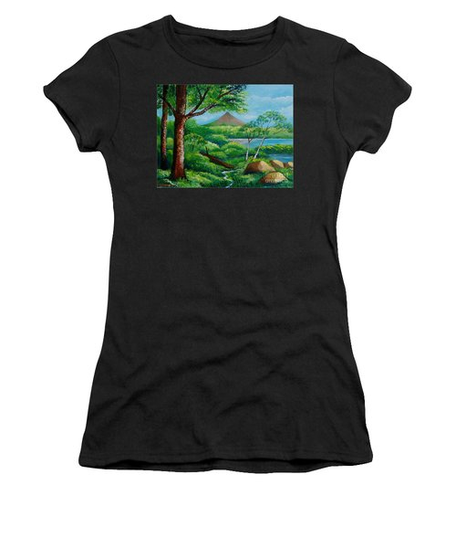 Arenal Volcano Women's T-Shirt (Athletic Fit)