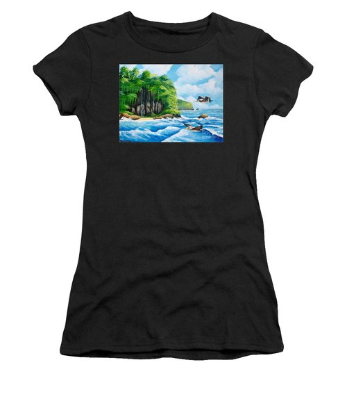 Treasure Island Women's T-Shirt (Athletic Fit)