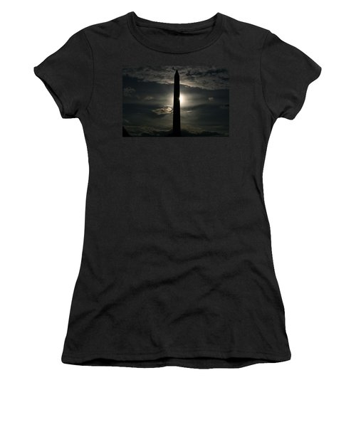 Women's T-Shirt (Junior Cut) featuring the photograph Washington Monument by Stacy C Bottoms