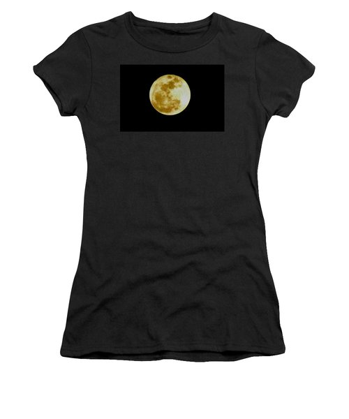 Women's T-Shirt (Junior Cut) featuring the photograph 2011 Full Moon by Maria Urso