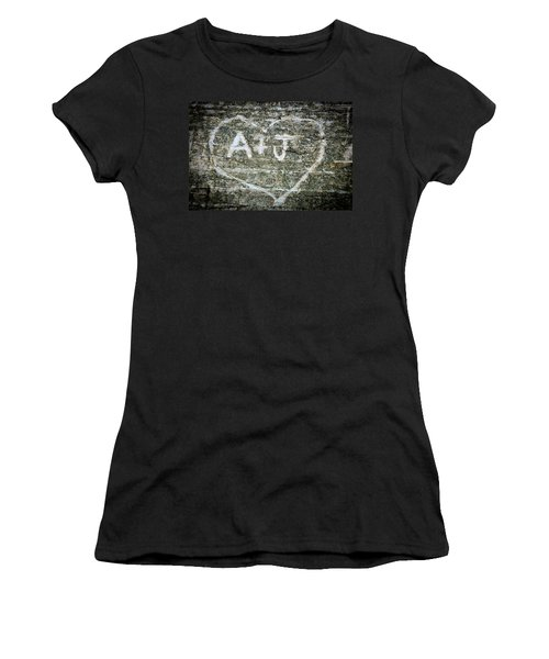 Women's T-Shirt (Junior Cut) featuring the photograph A And J by Julia Wilcox