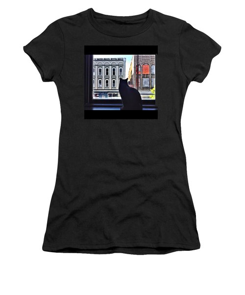 A Cat's View Women's T-Shirt (Athletic Fit)