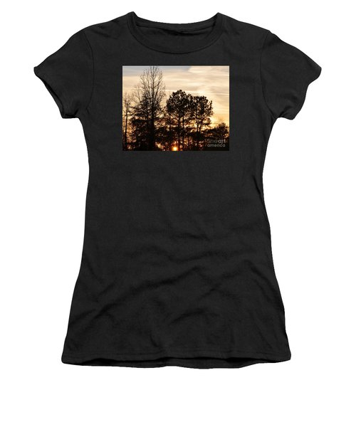 Women's T-Shirt (Junior Cut) featuring the photograph A Winter's Eve by Maria Urso