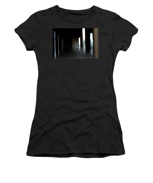 Women's T-Shirt (Junior Cut) featuring the mixed media Abyss by Terence Morrissey