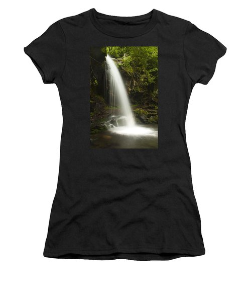 Alongside Grotto Falls Women's T-Shirt (Athletic Fit)