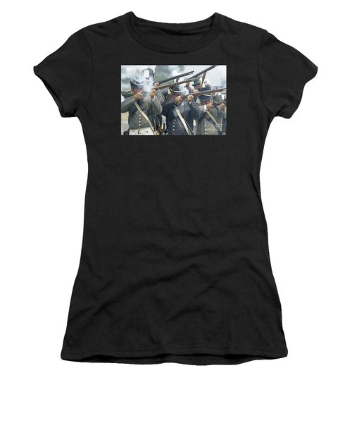 American Infantry Firing Women's T-Shirt (Athletic Fit)