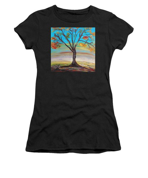 An Autumn Locust Tree Women's T-Shirt (Athletic Fit)