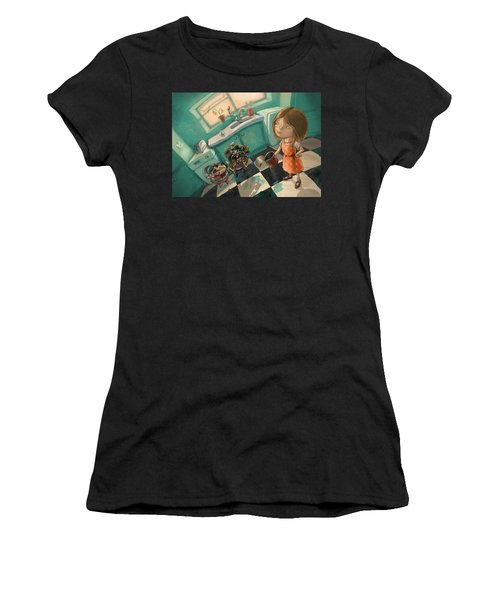 Angry Pirates Women's T-Shirt (Athletic Fit)