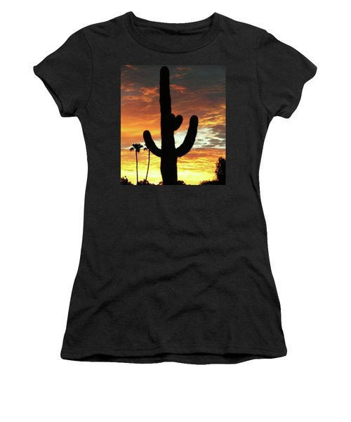 Women's T-Shirt (Junior Cut) featuring the photograph Arizona Sunrise 01 by Rand Swift