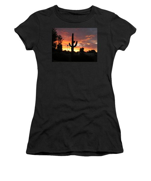 Women's T-Shirt (Junior Cut) featuring the photograph Arizona Sunrise 03 by Rand Swift
