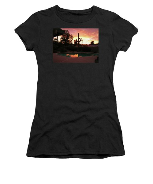 Women's T-Shirt (Junior Cut) featuring the photograph Arizona Sunrise 04 by Rand Swift