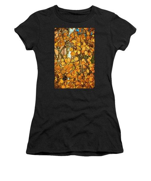 Aspens Gold Women's T-Shirt (Athletic Fit)