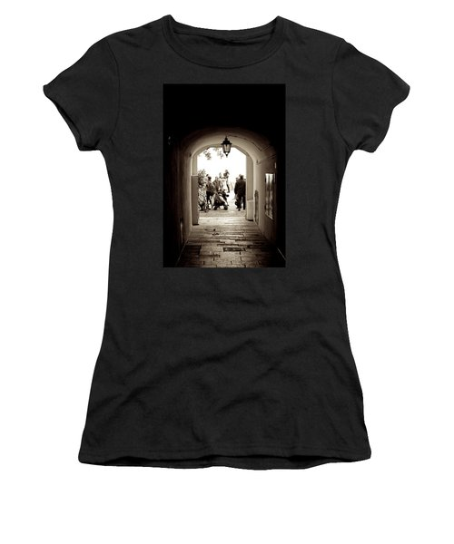 At The End Of The Tunnel Women's T-Shirt (Athletic Fit)