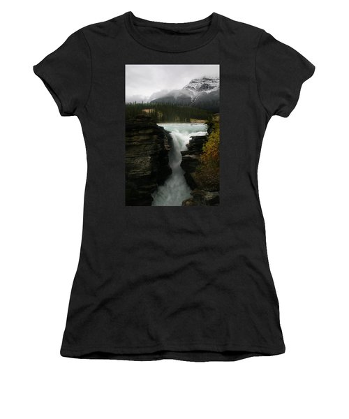 Athabasca Falls Jasper National Park Women's T-Shirt (Athletic Fit)
