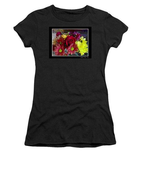 Women's T-Shirt (Junior Cut) featuring the digital art Autumn Boquet by Debbie Portwood