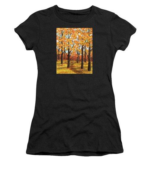Autumn Meadow Women's T-Shirt (Athletic Fit)